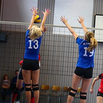 Block Rebecca Rester und Johanna Munding beim saisonstart 2015-16