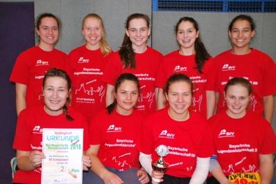 Das U20-Team des VC Schwandorf, Nordbayerischer Vizemeister