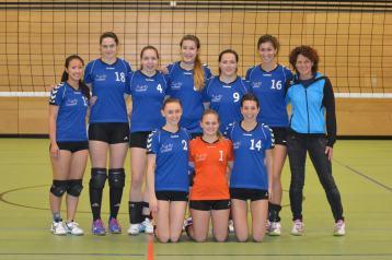 Die Landesliga-Damen des VC Schwandorf, Bezirksliga-Meister 2015
